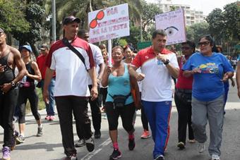Más de 2 mil personas se sumaron a la gran caminata en conmemoración del Día Mundial de la Salud Visual