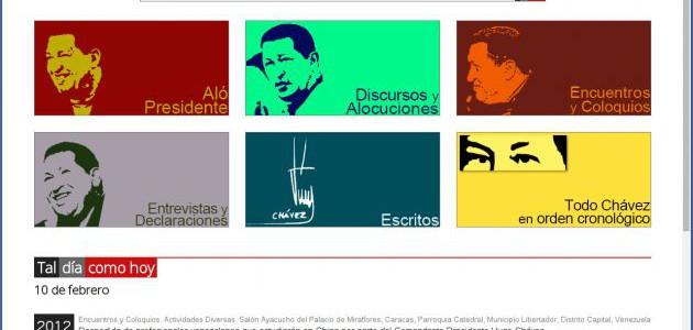 Nuevo portal web Todochavez ofrece cerca de 7.000 documentos de la vida del Comandante