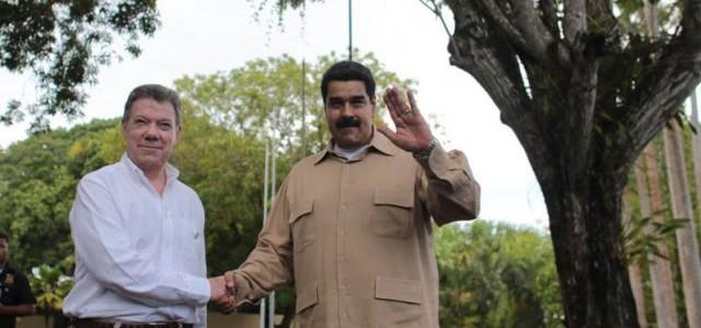 Maduro se reúne con Santos en Bolívar