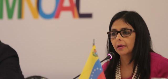 Canciller Rodríguez presentará ante la ONU propuestas de la XVII cumbre del Mnoal