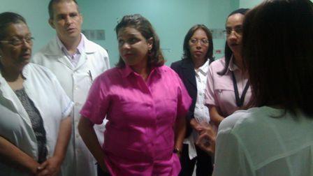 Ministra de Salud supervisó operatividad del Hospital Central de Yaracuy
