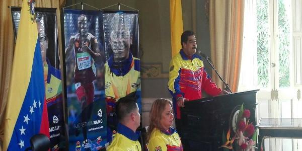 """Maduro a atletas paralímpicos: """"Ustedes han conmovido el sentimiento patrio de los venezolanos"""""""