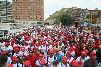 Trabajadores del MPPS estuvieron presentes en la movilización Anti Golpe