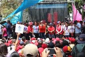 MinSalud dijo presente en movilización de Mujeres Revolucionarias en Defensa de la Patria, la Paz y la Vida