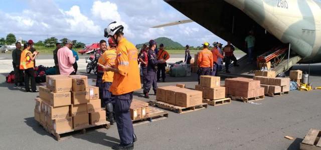 Fuerzas de tarea humanitaria venezolana llegaron a Santa Lucía