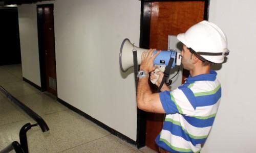 Satisfactoria prueba del sistema de altavoces para casos de emergencia