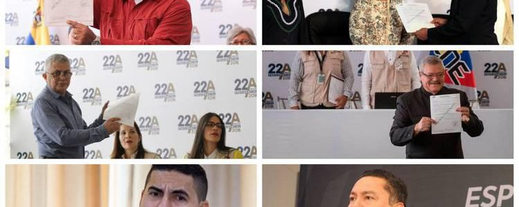 Seis candidatos formalizaron su inscripción para presidenciales