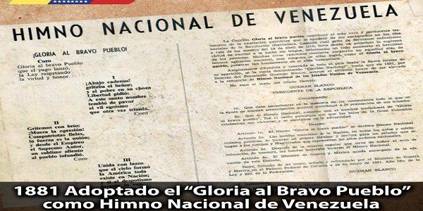 Presidente Maduro celebró los 137 años del Himno Nacional Gloria al Bravo Pueblo