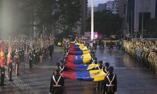 Izada del tricolor inició actos conmemorativos por el Día de la Bandera