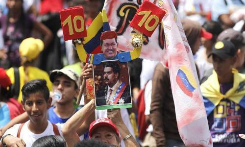 Pueblo venezolano marcha este lunes en respaldo al presidente Maduro