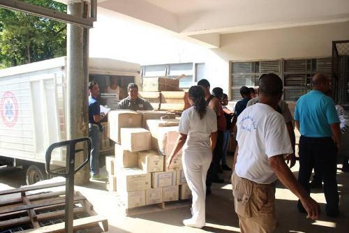 16 toneladas de medicamentos se distribuirán en 18 hospitales