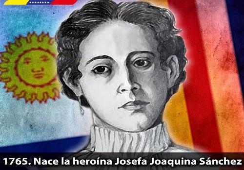 Hace 253 años nació la heroína Josefa Joaquina Sánchez