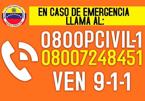 Continúa activa línea telefónica en caso de emergencias por fuertes lluvias