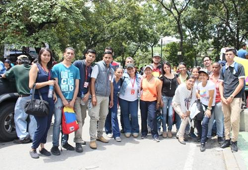 Trabajadores de Espromed BIO asistieron a la gran marcha por la Paz
