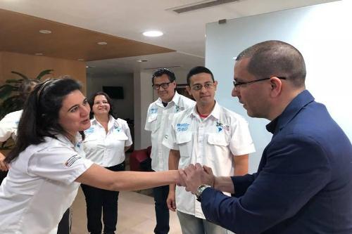 Canciller Arreaza se reunió con delegación médica de Misión Milagro que partió a El Salvador